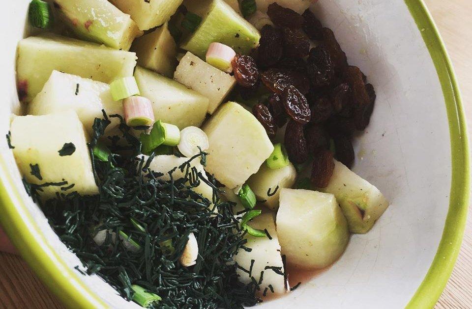 Recette Salade de chou cru aux raisins secs